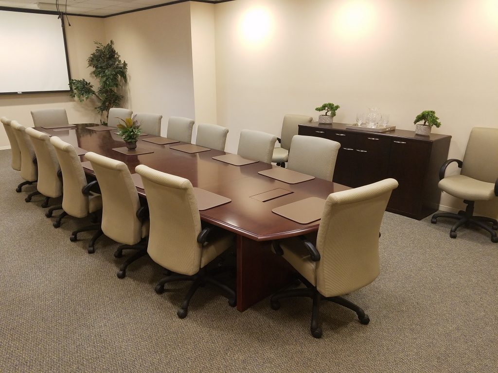 North Houston Executive Suites Conference Room - renting a coworking space