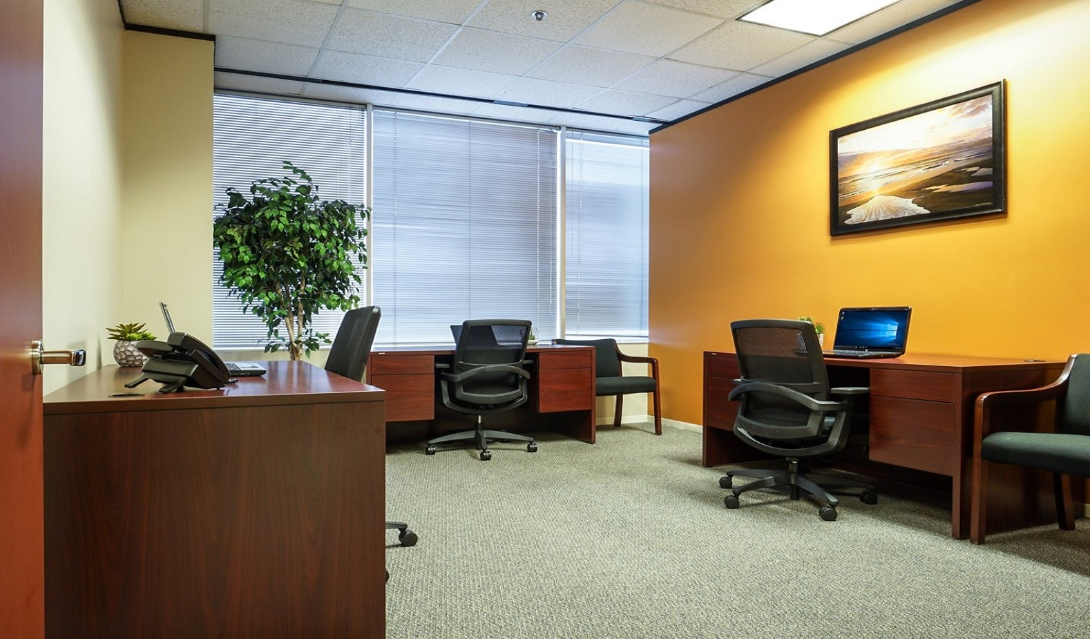 North Houston Executive Office Suites - Shared Office with Window