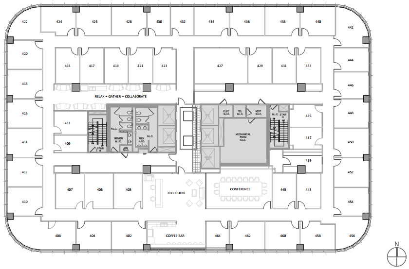 North Houston Executive Suites Floor Plan